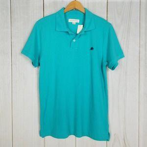 Aeropostal Teal Logo Preppie Polo Shirt